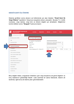 kredi kartı ile ödeme - İnternet Vergi Dairesi