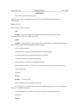 6. 16.04.13 Ekranlı Araçlarla Çalışmalarda Sağlık Ve Güvenlik
