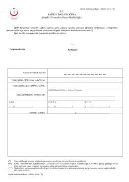 Eğitime Başlama Dilekçesi Örneği (form 17b)