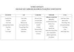 YENİSEY KONUKEVİ 02-06 MART 2015 TARİHLERİ ARASI BİR