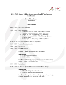 2014 Türk-Alman Eğitim, Araştırma ve Yenilik Yılı Kapanış Konferansı