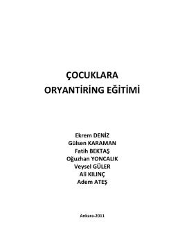 Oryantiring Eğitim PDF