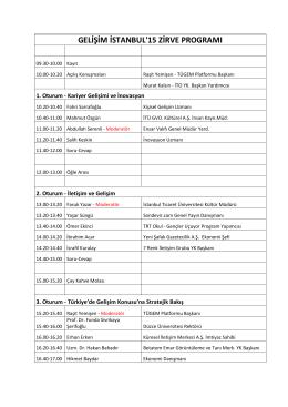 programı indir - Gelişim İstanbul`15 Zirvesi