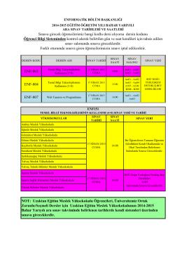 ENF-803 ENF-804 ENF-807 Sınava girecek öğrencilerimiz hangi