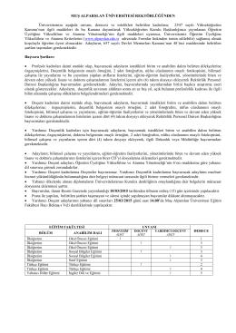 Muş Alparslan Üniversitesi Rektörlüğünden Öğretim Üyesi İlanı
