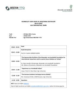 humboldt vakfı burs ve araştırma destekleri bilgi günü