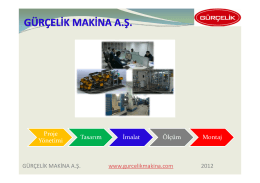 Gürçelik Makina Sunum Dosyası