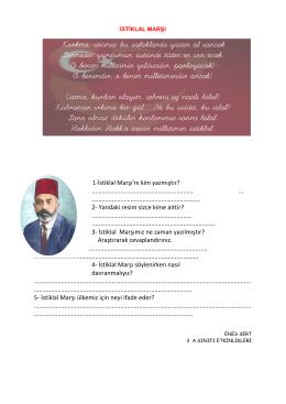 iSTiKLAL MARŞI - Kartanelerim.com