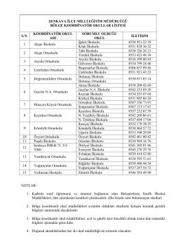 şenkaya ilçe milli eğitim müdürlüğü bölge koordinatör okullar listesi
