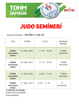 Seminer Direktörü: DANİEL LASCAU