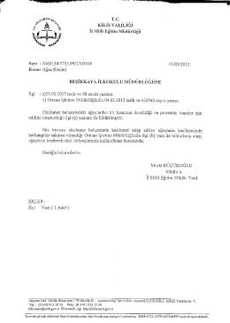 T.c. KıLıs VALİLİGİ 11 ıvnıu Eğitim Müdürlüğü