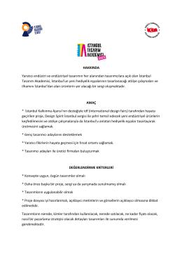 indirmek için tıklayınız - İstanbul Tasarım Akademisi