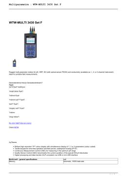 Multiparametre : WTW