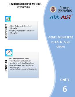 ünite - Lms - Atatürk Üniversitesi