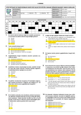 ISL224 İstatistik-II Arasınav Örneği