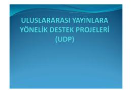UDP Proje Başvuru 2015 - İstanbul Üniversitesi