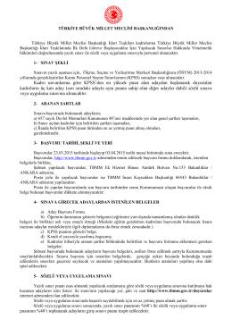 türkiye büyük millet meclisi sınav kurulu kararı
