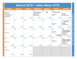 View this month`s calendar. - the Congregation Beth Sholom