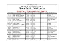 T.P.B. (İ.Ö.) / 28 - Tekstil Programı