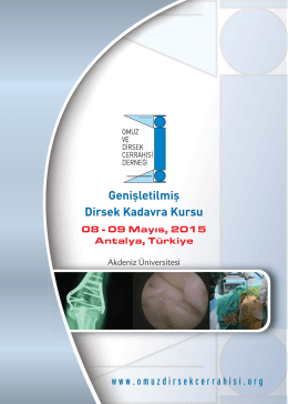 Genişletilmiş Dirsek Kadavra Kursu - Türk Omuz ve Dirsek Cerrahisi