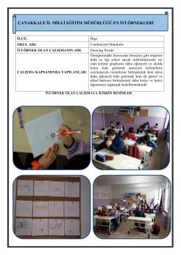 Drawing Words Projesi - Çanakkale İl Milli Eğitim Müdürlüğü