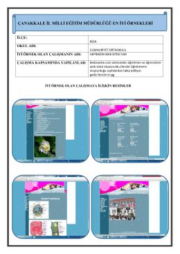 Hepimizin Web Sitesi Var Projesi - Çanakkale İl Milli Eğitim Müdürlüğü