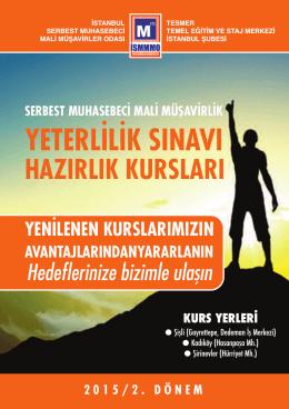 yeterlilik sınavı - İstanbul Serbest Muhasebeci Mali Müşavirler Odası