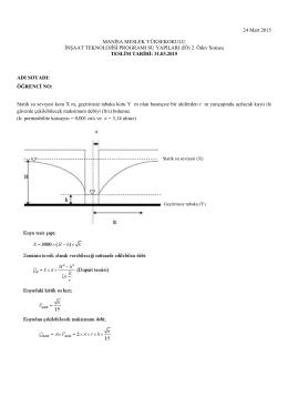 Su Yapıları İÖ Ödev 2