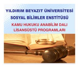 Kamu Hukuku Bölümü