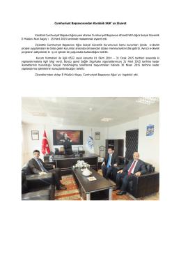 CACHEID=644590f7-80f1-46fa-992b-a0479cce3612;Cumhuriyet Başsavcısından Karabük SGK` ya Ziyaret