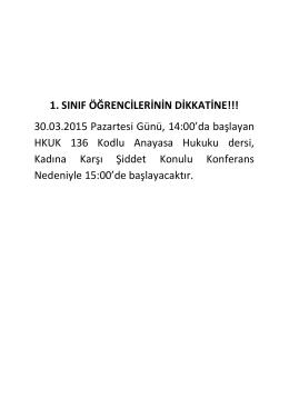 türk anayasa hukuku dersi alan öğrencilerin dikkatine