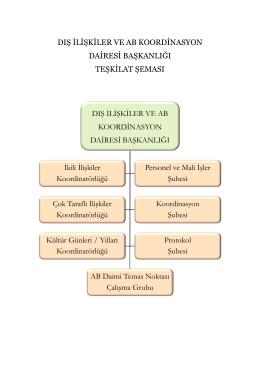 dış ilişkiler ve ab koordinasyon dairesi başkanlığı teşkilat şeması dış