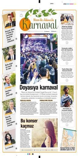 Karnaval Gazetesi - Nisan`da Adana`da
