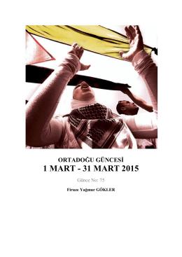 1 MART - 31 MART 2015
