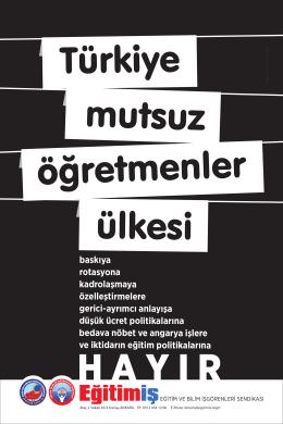 örgütlenme afişi