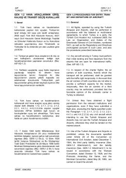 gen 1.2 hava araçlarının giriş, kalkış ve transit geçiş kuralları
