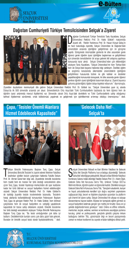 Dağıstan Cumhuriyeti Türkiye Temsilcisinden Selçuk`a Z