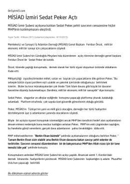 MİSİAD İzmiri Sedat Peker Açtı