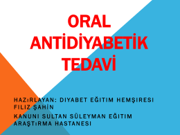 Oral Antidiyabetik Tedavisi