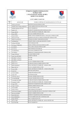 türkiye eskrim federasyonu 10 nisan 2015 1. olağanüstü genel kurul
