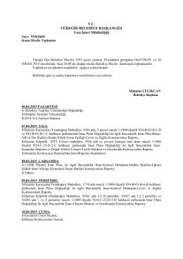 Nisan 2015 Meclis Gündemleri