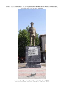 Yapılan Anıt Heykel ve Rölyefler