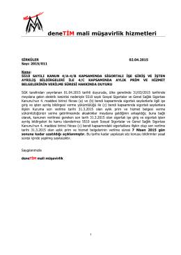 03.04.2015 2015_011 aylık prim ve hizmet