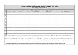 Talep Formu - Hâkimler ve Savcılar Yüksek Kurulu