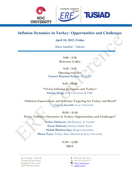 Inflation Dynamics in Turkey: Opportunities and Challenges