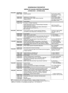 sağlık/tıp hukuku sertifika programı