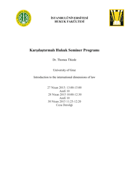 Karşılaştırmalı Hukuk Seminer Programı