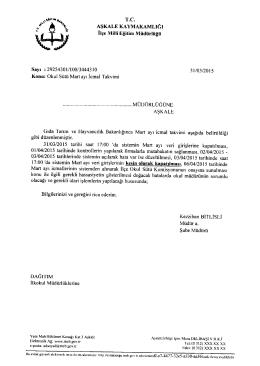 okul sütü mart ayı icmal takvimi - aşkale ilçe millî eğitim müdürlüğü