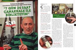 Türkiye`nin tek resmi Çanakkale koleksiyoneri Seyit