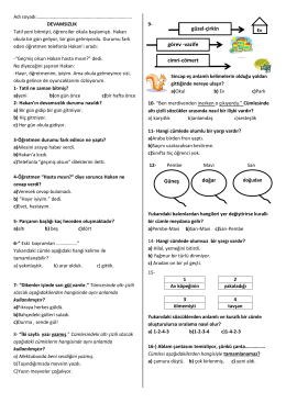 türkçe test - Kartanelerim.com